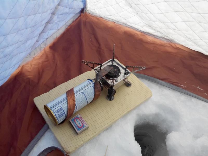 Отопление палатки зимой на рыбалке